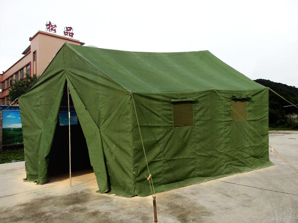 军工加厚保暖帆布棉帐篷户外工程工地野外施工民用救灾帐篷防雨寒