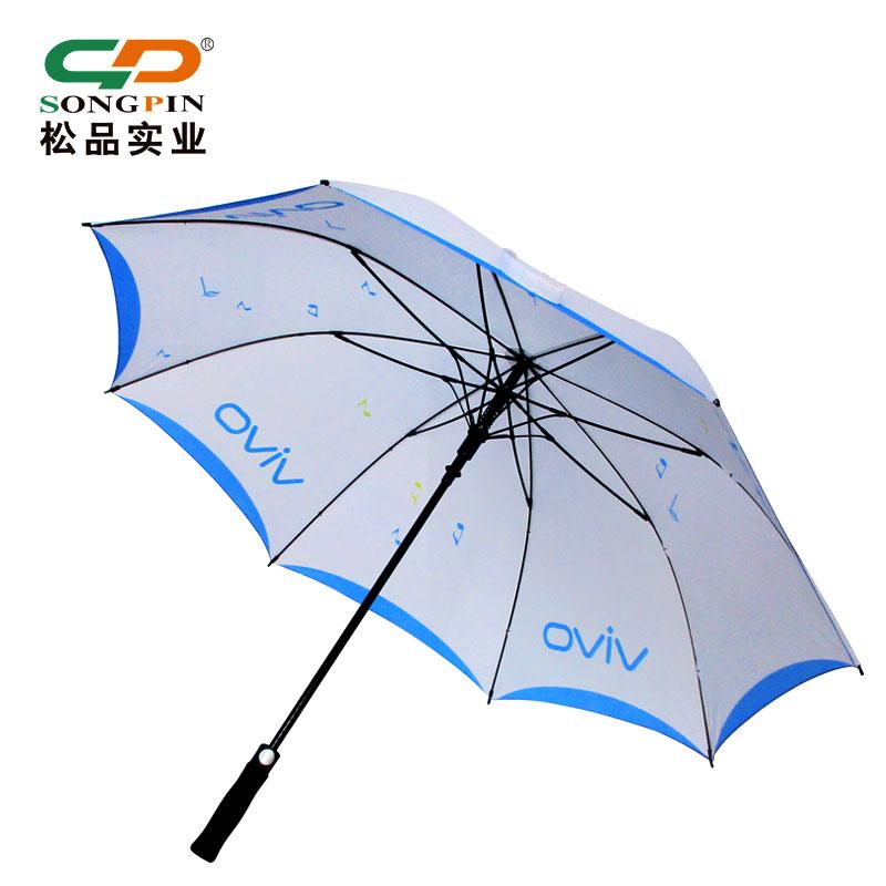 高档广告礼品高尔夫伞商品促销广州松品遮阳雨伞定做印刷广告LOGO