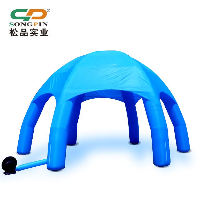 户外广告充气帐篷厂家定做PVC充气模型大型圆顶六角遮阳充气帐篷