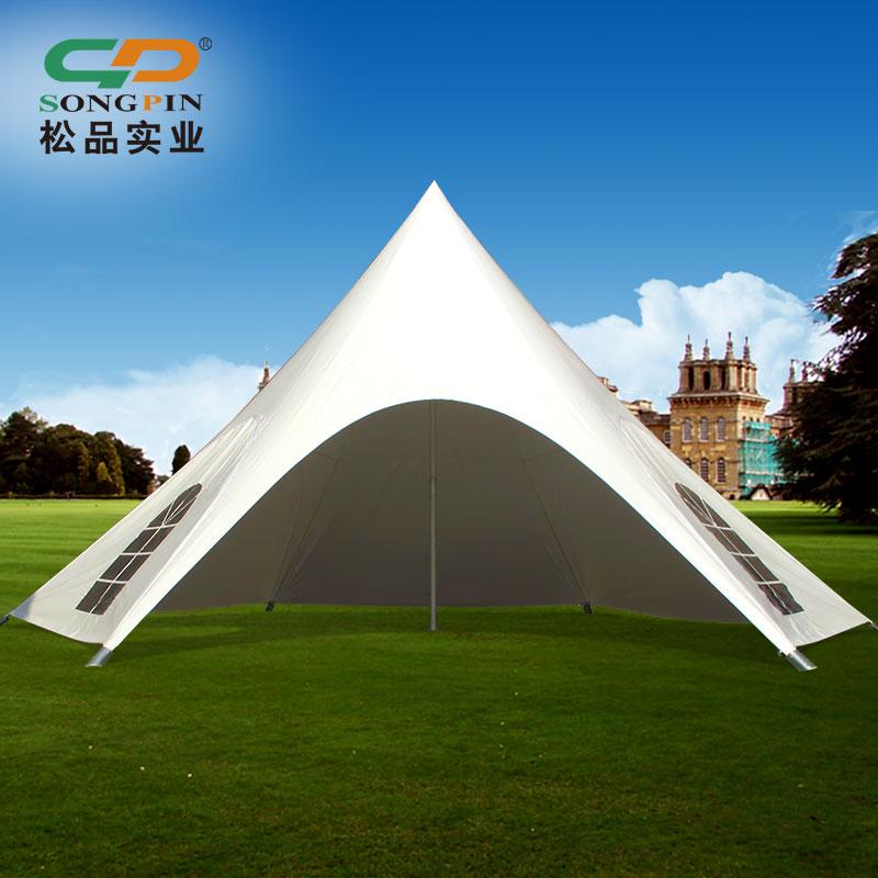 厂家定制户外防雨折叠帐篷移动推拉折叠帐篷六角沙滩星星篷异性篷