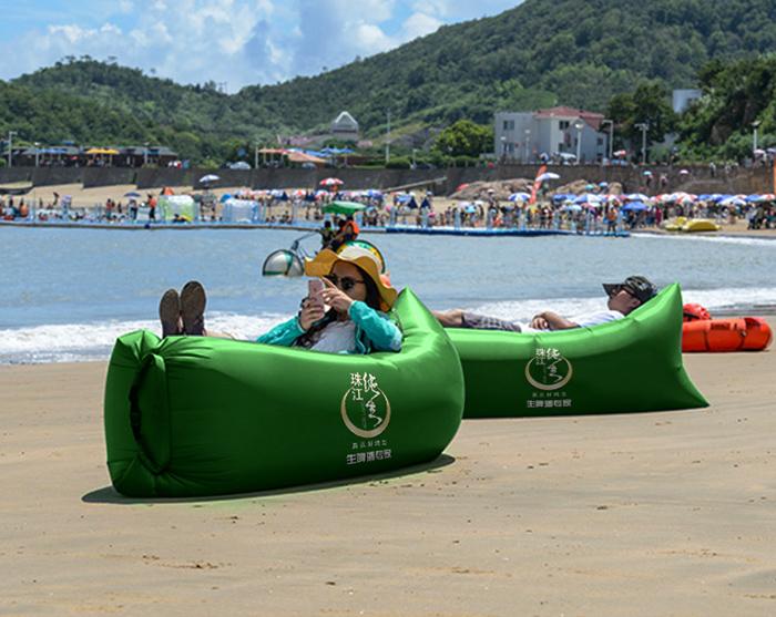 超轻批发户外沙发便携懒人沙发 折叠充气床沙滩懒人空气沙发睡袋