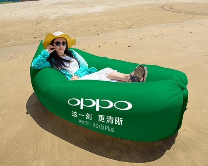 户外懒人充气沙发 沙滩空气沙发床 野营折叠 充气睡袋