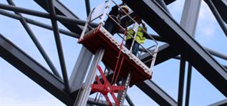 桅柱式铝高空作业平台