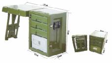 箱组式野战财务作业桌(保险柜)