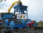 Wet magnetic separator use site