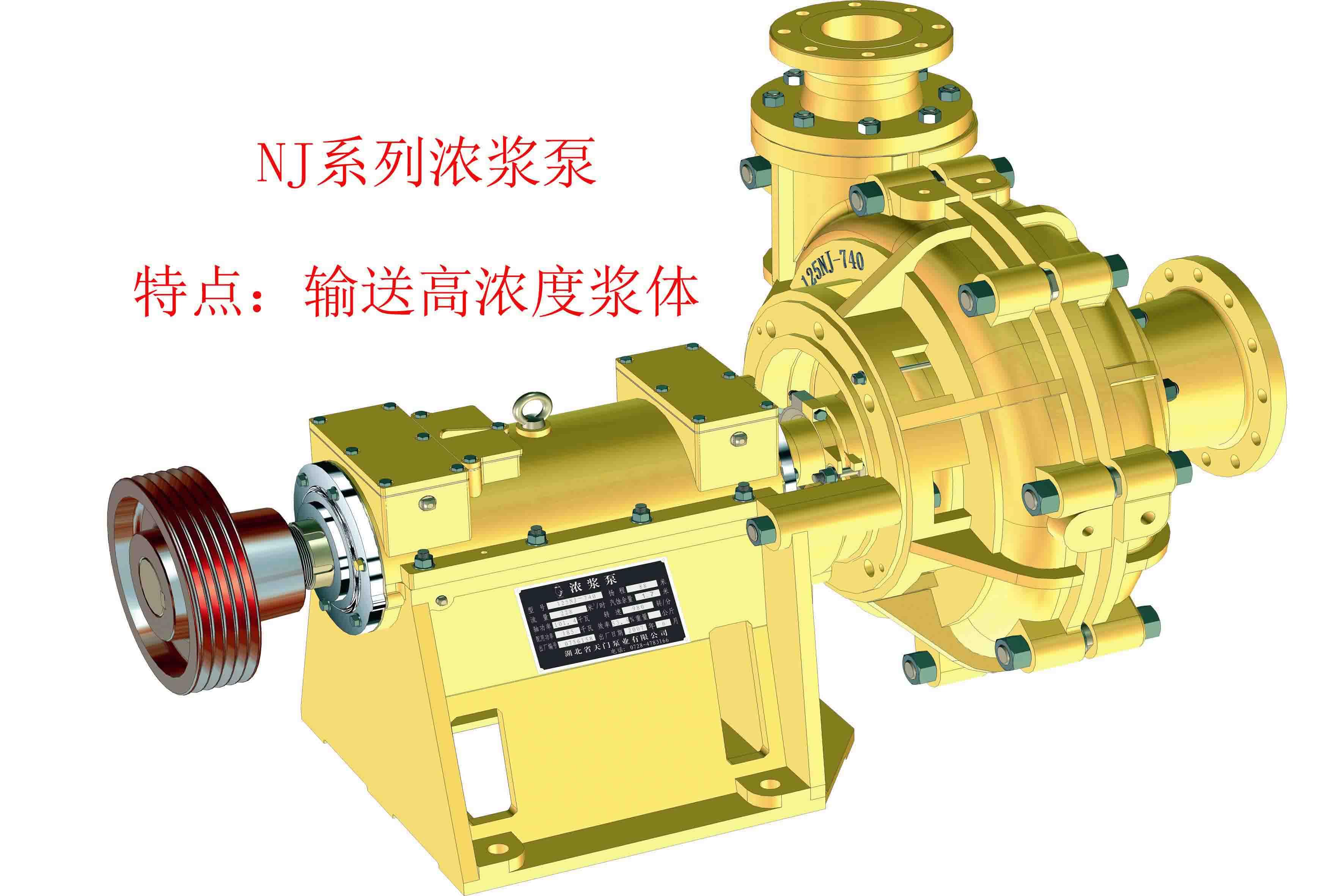 NJ系列浓浆泵