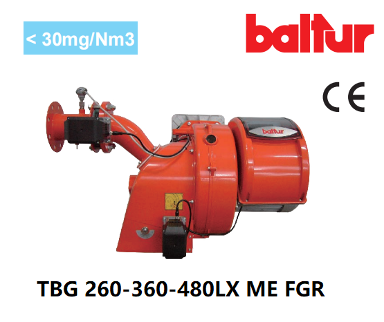 百得燃烧器 TBG 260-360-480 LX ME FGR 低氮30毫克