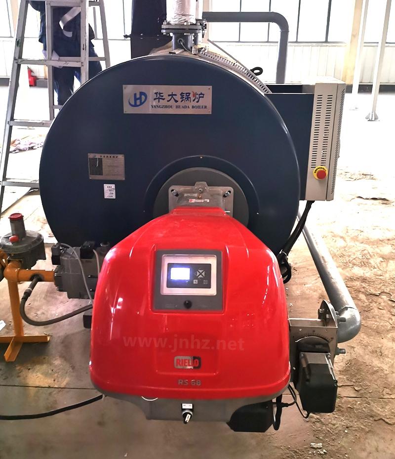0.5吨导热油锅炉配RIELLO利雅路低氮燃烧器:RS68/E FGR;聊城案例