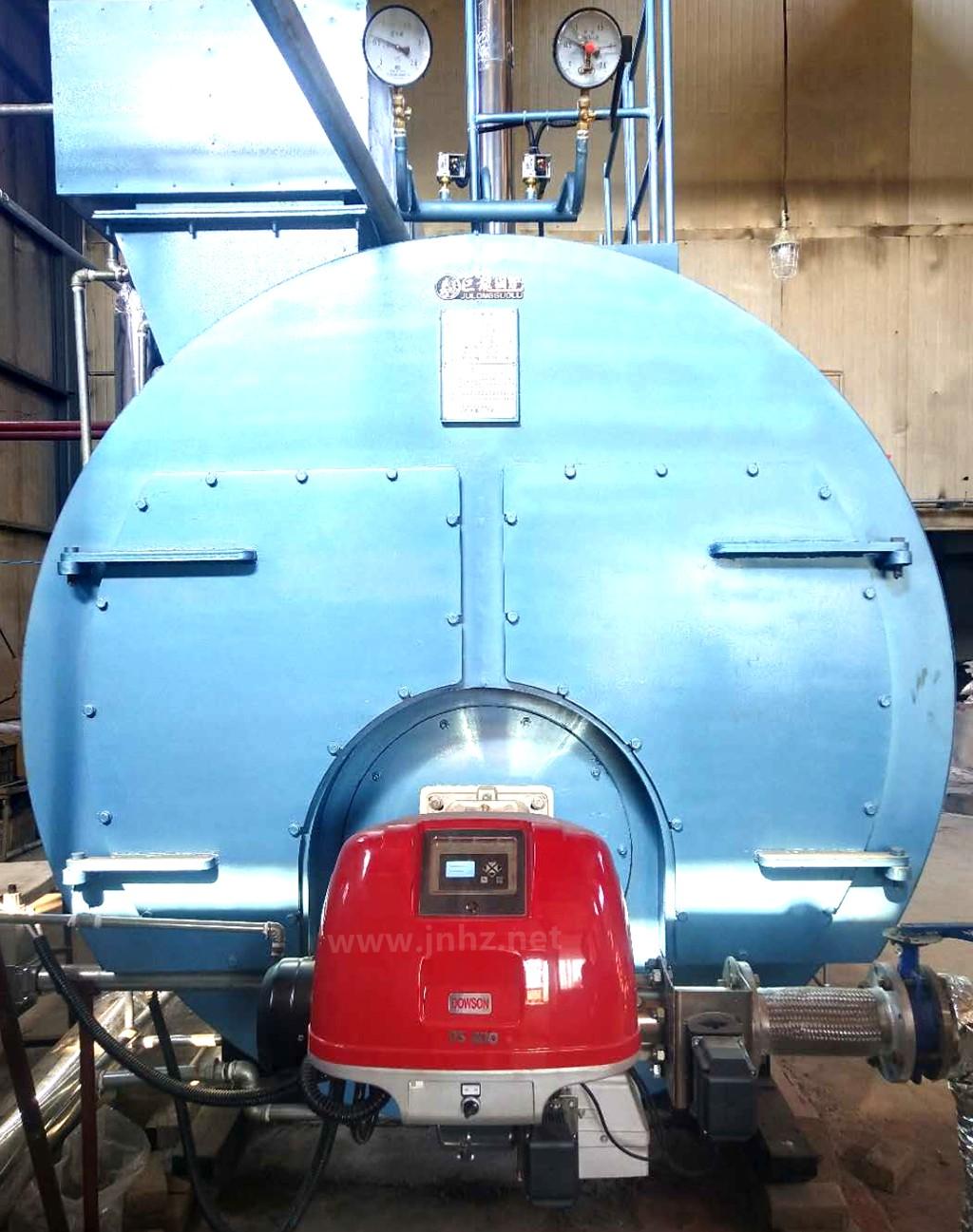 2吨蒸汽锅炉配DOWSON道森(DS200/E FGR)低氮燃烧器,济南莱芜案例