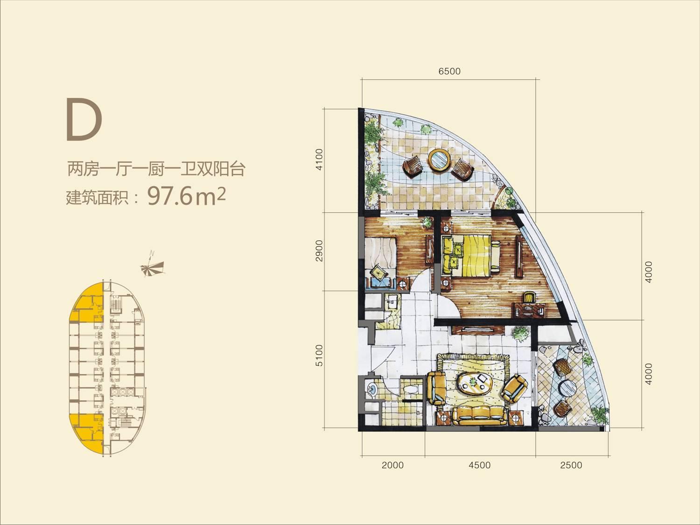 户型图-海南长岛蓝湾贵州销售中心
