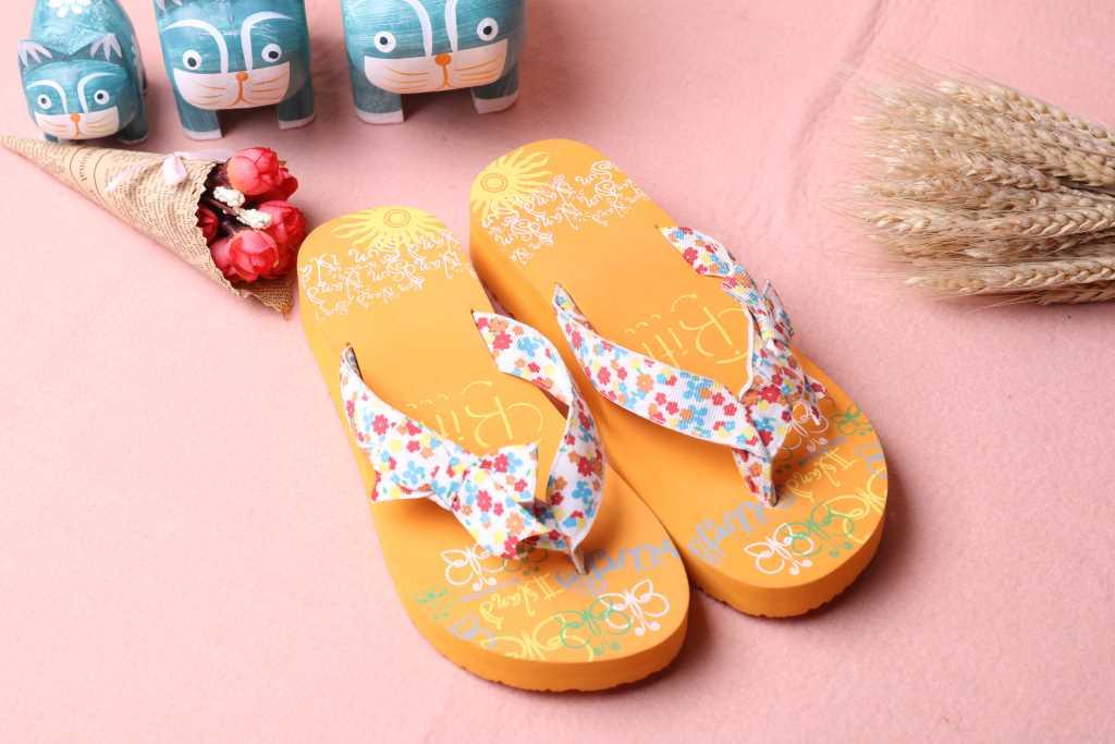 新款越南平仙时尚布艺拖鞋