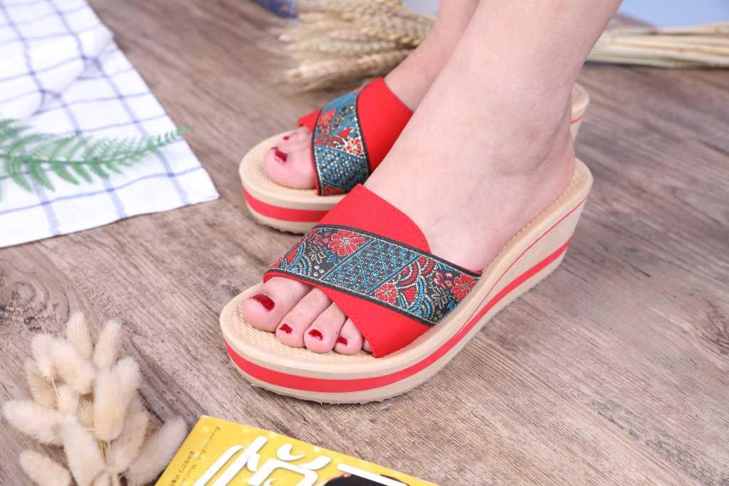 民族特色越南平仙女鞋
