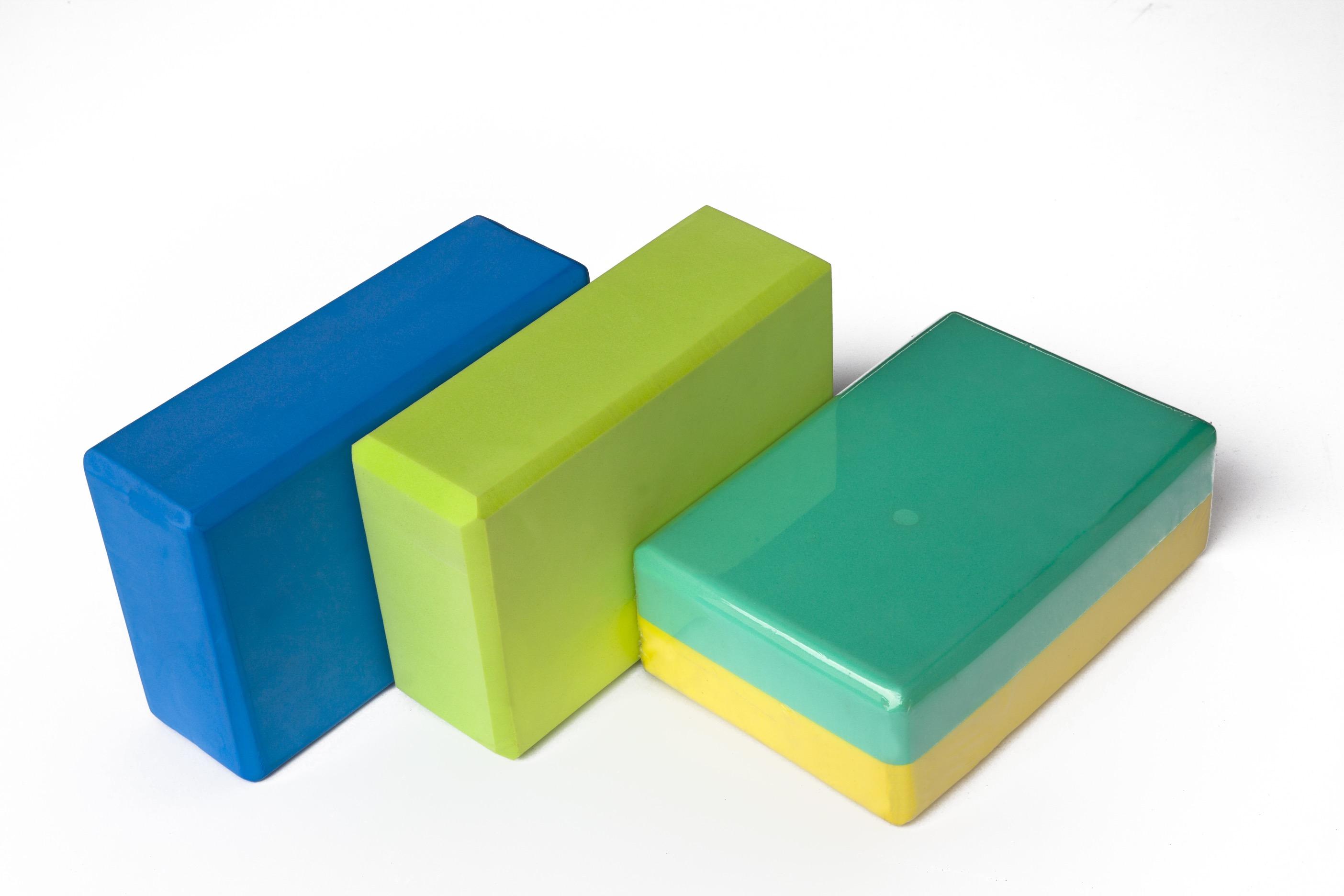 双色PE瑜伽砖