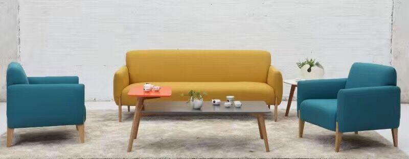 黄蓝布艺沙发套组