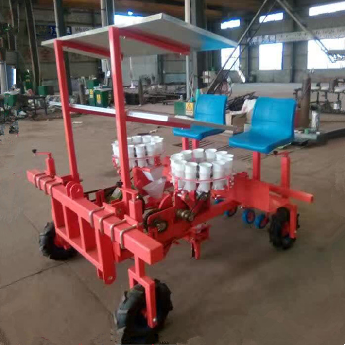 Tractor mounted transplanter vegetable planting machines