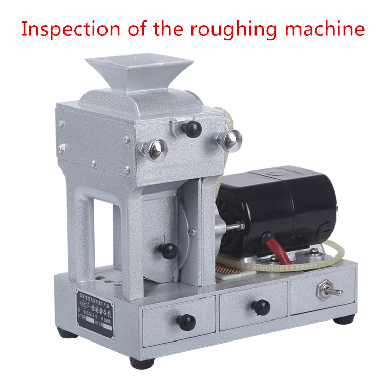 Inspection of the roughing machine