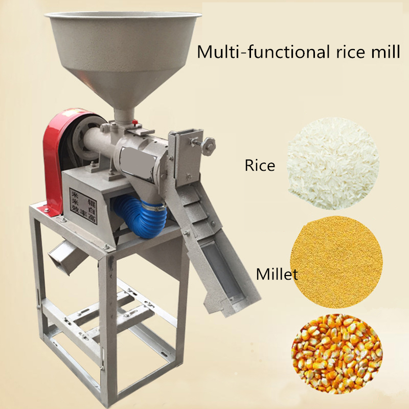 Gasoline/electric rice mill