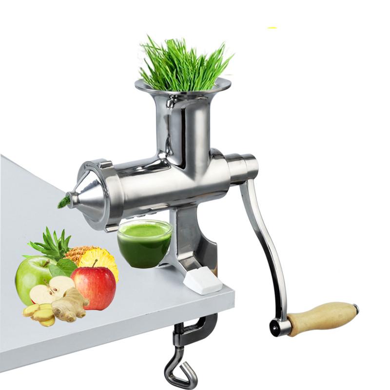 手摇不锈钢蔬菜水果榨汁机