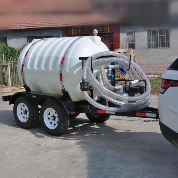 农用园林洒水yin用水3T吨5T吨HDPE塑料水箱水罐四轮拖车沼渣沼液