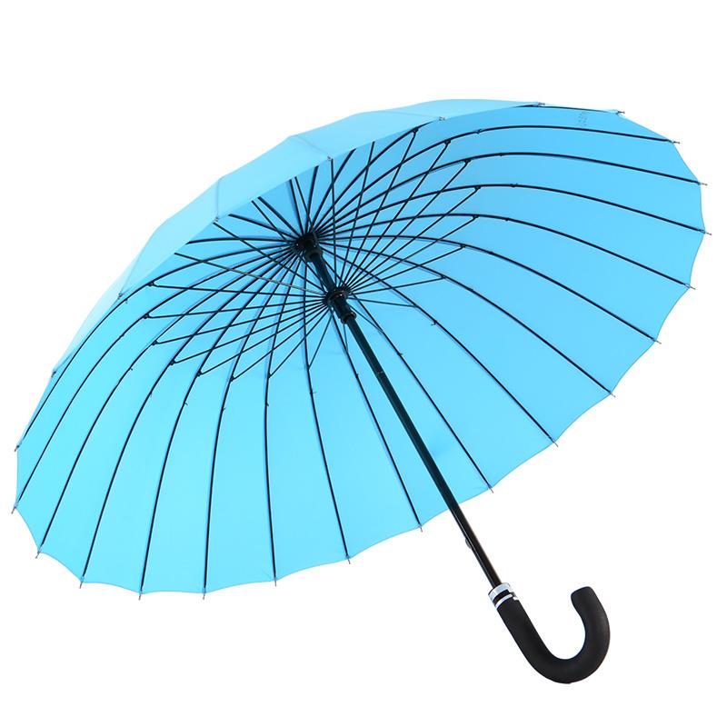 广西快3中奖规则 24骨弯钩手动直杆防风晴雨伞 M5003E