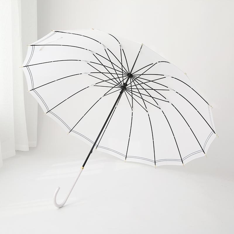 广西快3中奖规则 16K日系海军条纹直杆晴雨伞 D1801