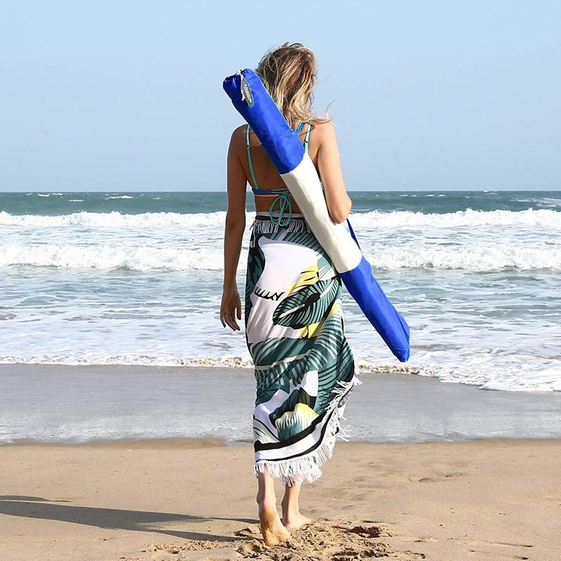 广西快3中奖规则 拼接撞色沙滩伞M19002红色