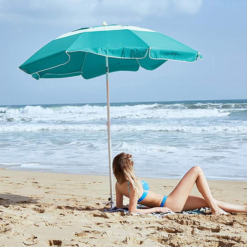 广西快3中奖规则 拼接撞色沙滩伞M19902绿色