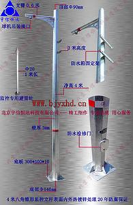 八角监控杆JTZ4-ZJ140