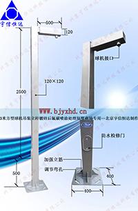 3米方管监控立杆JT3-FG120