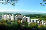 云南华侨城温泉公菲拉酒店北区南侧透视图
