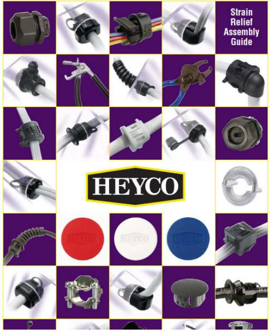 heyco耐高温电源线扣