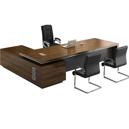老板桌簡約現代辦公桌總裁經理主管桌單人大氣班臺