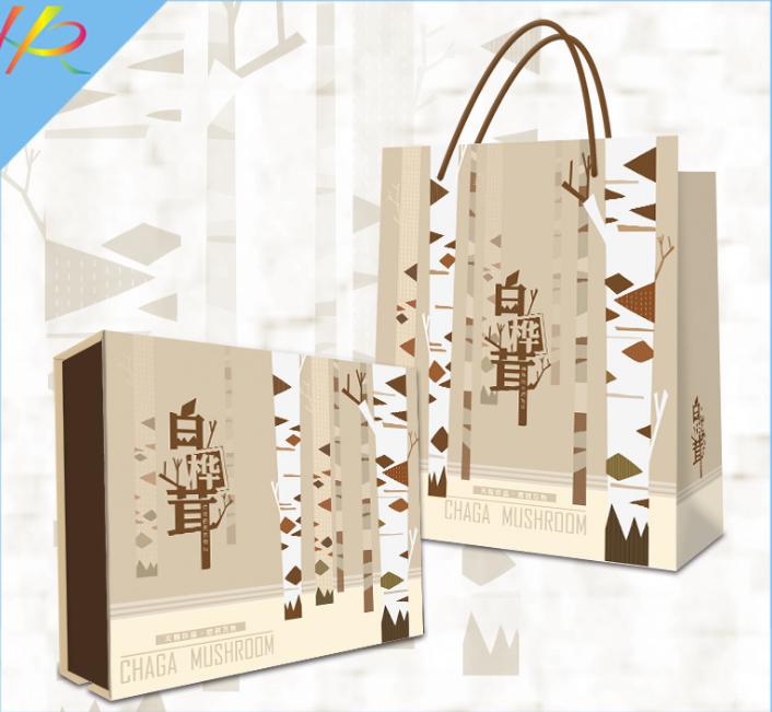 包装礼盒--白桦茸礼盒定制
