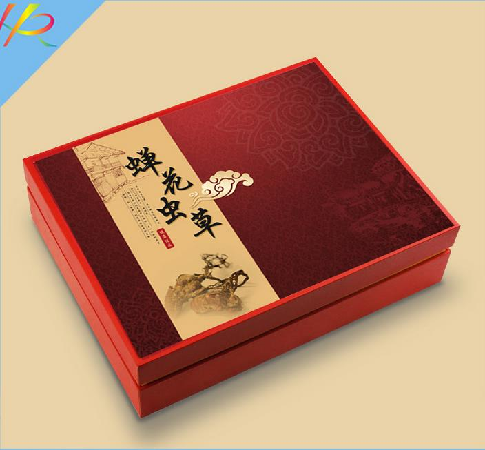 包装礼盒--蝉花虫草包装盒定制