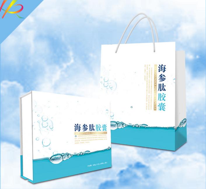 包装礼盒--海参肽胶囊礼盒定制