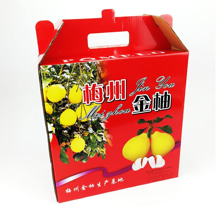 包装礼盒--沙田柚礼盒包装定制