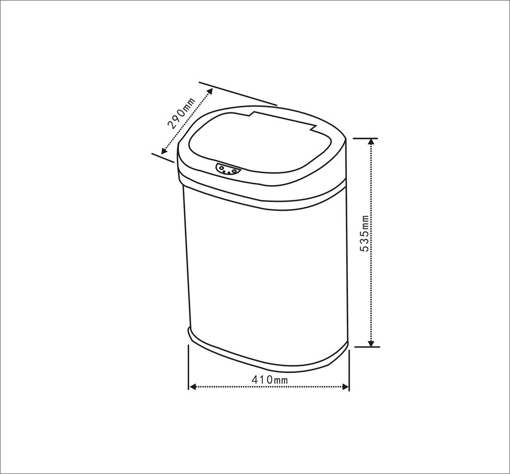 感应垃圾桶hb-l1103-gy-hanbn汉本