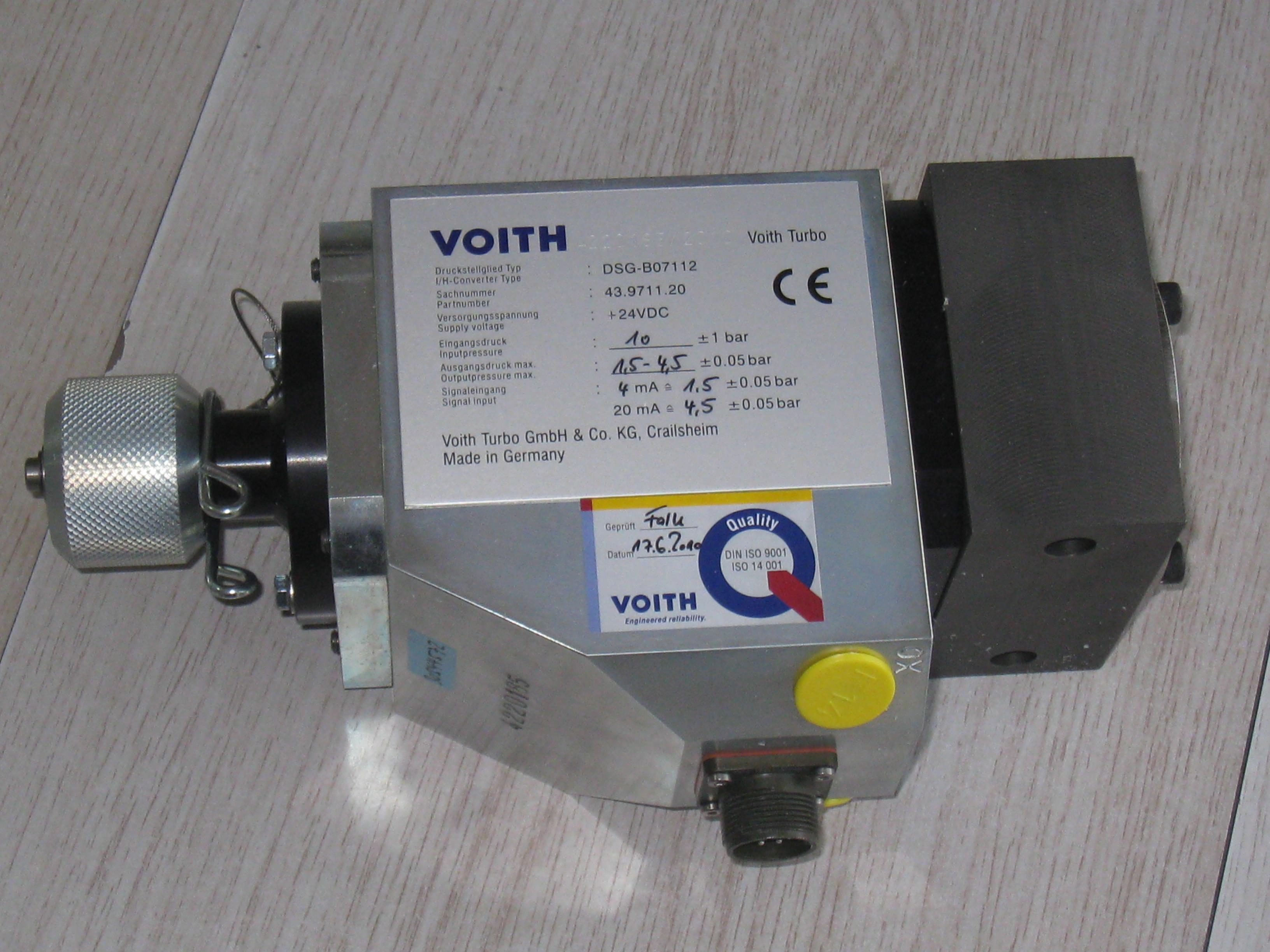 Voith DSG-B07112 、DSG-B07212电液转换器