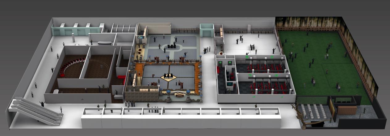 大型商场的室内VR体验中心