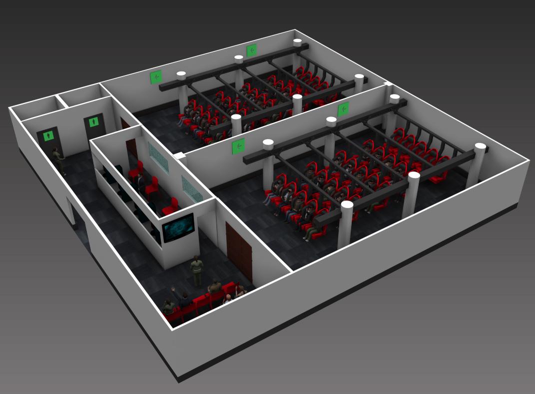 电影院的VR电影放映厅