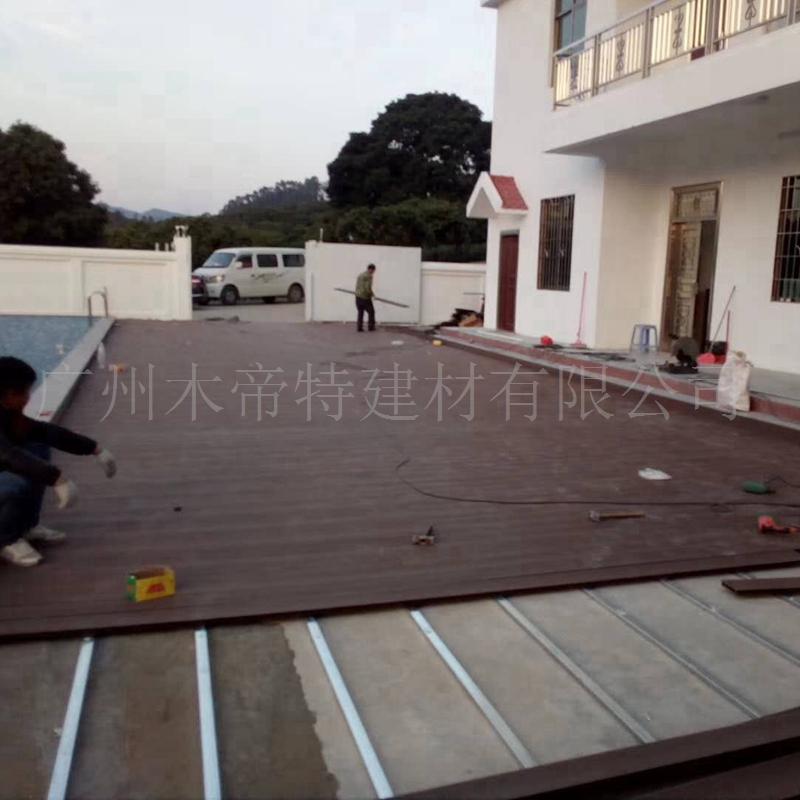 地板安装项目 广东地板施工项目 户外墙板木塑材料包工包料包运输