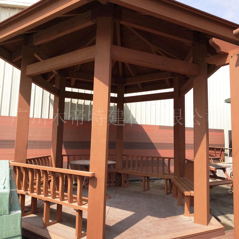 塑木葡萄架 凉亭庭院塑木材料 南沙木塑凉亭厂家批发户外走廊花架