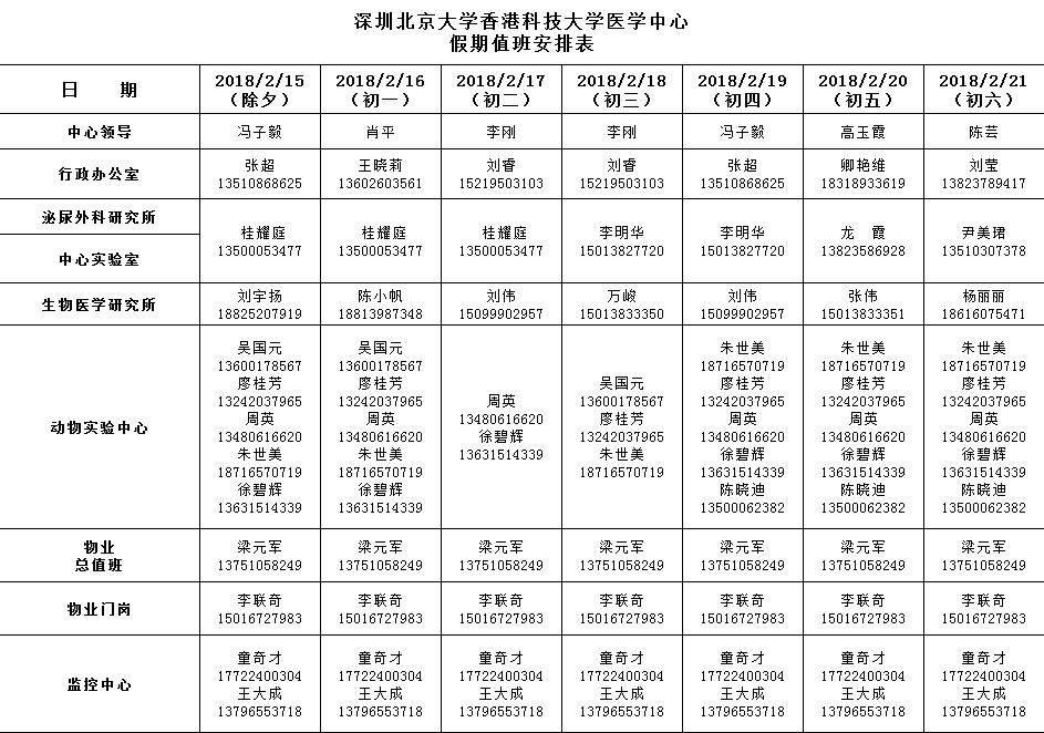 关于2018年春节放假安排通知(图1)