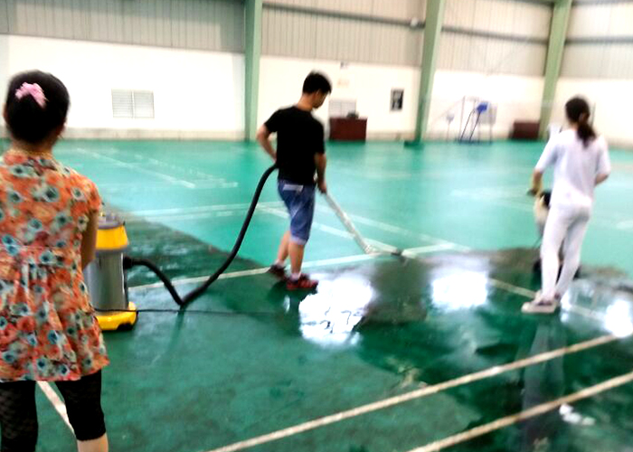 涇縣大唐發電廠羽毛球管地面清洗打蠟