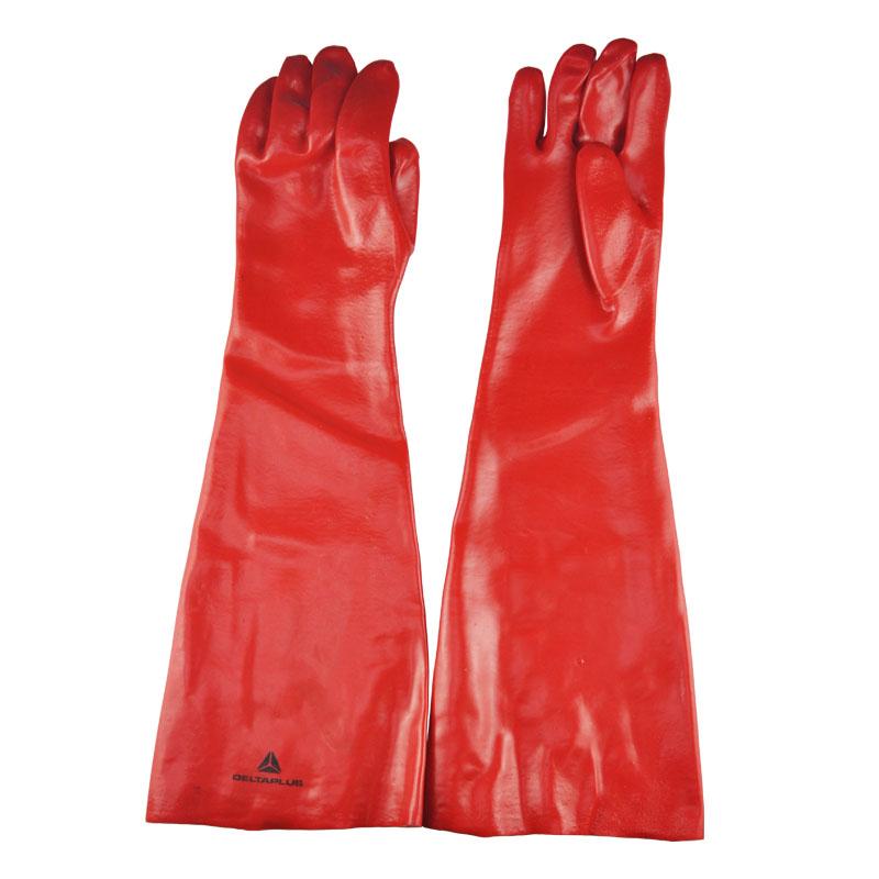 代爾塔PVC多功能防化學品防微生物防水防油耐酸堿勞保防化手套