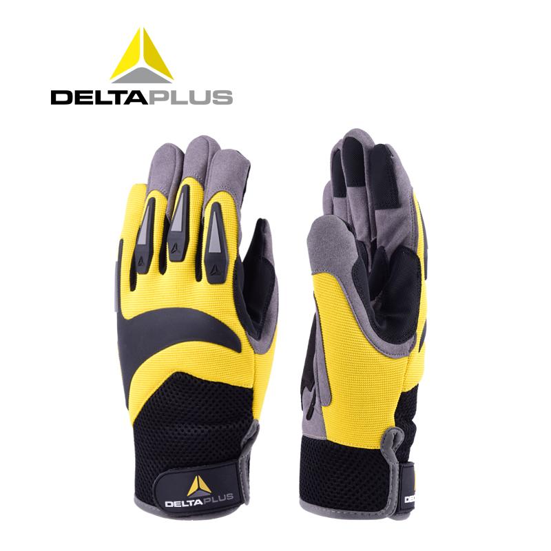 代爾塔高空戶外運動手套男士夏季耐磨防護透氣舒適安全騎行防切割