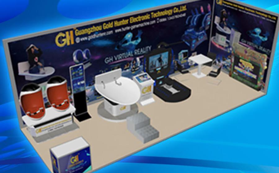 广州猎金电子科技有限公司携实感射击体验馆参加广州AAA展