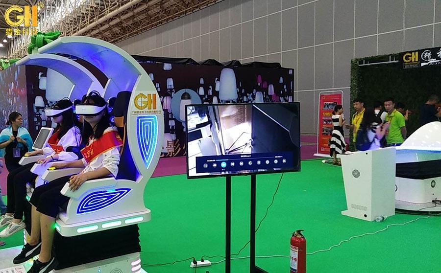 喜讯:3d模拟体验设备实感猎神射击馆太火了,武汉游乐展需要多展四天