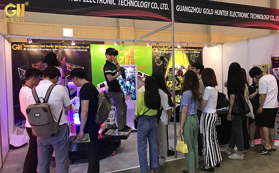猎金科技中国9DVR虚拟现实体验馆实感射击馆厂家应邀参加韩国VRAR展
