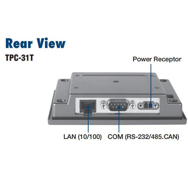 研华 嵌入式平板电脑 5.6 - 7寸工业级可编程人机界面 TPC-31T